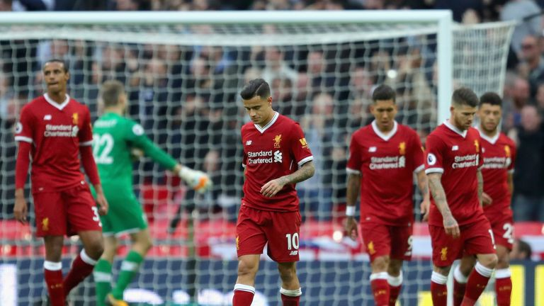 Liverpool suffered their biggest defeat of the season in a 4-1 loss to Tottenham at Wembley Stadium in October