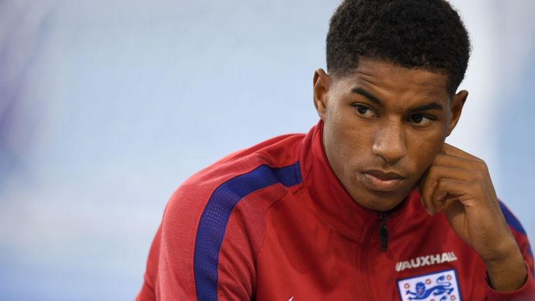 Marcus Rashford has won 11 international caps for England to date, scoring twice