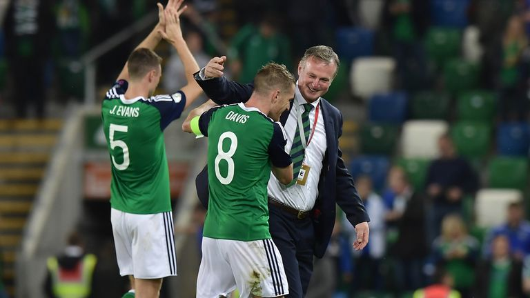 Michael O'Neill will be hoping for a favourable draw for Northern Ireland on Tuesday
