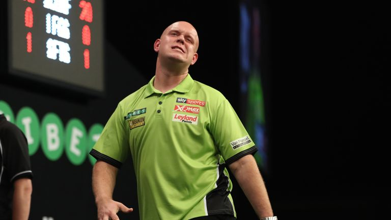 World No 1 Van Gerwen was left extremely frustrated by Henderson