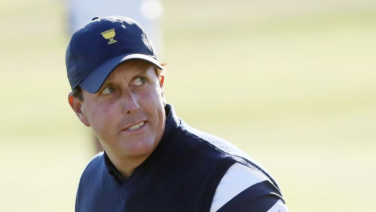 Phil Mickelson is the leading points scorer in the Presidents Cup