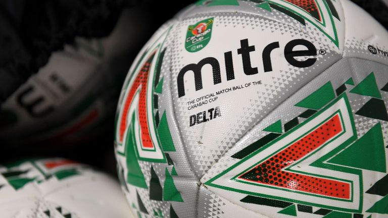 The Mitre Delta is the match ball used in Carabao Cup ties