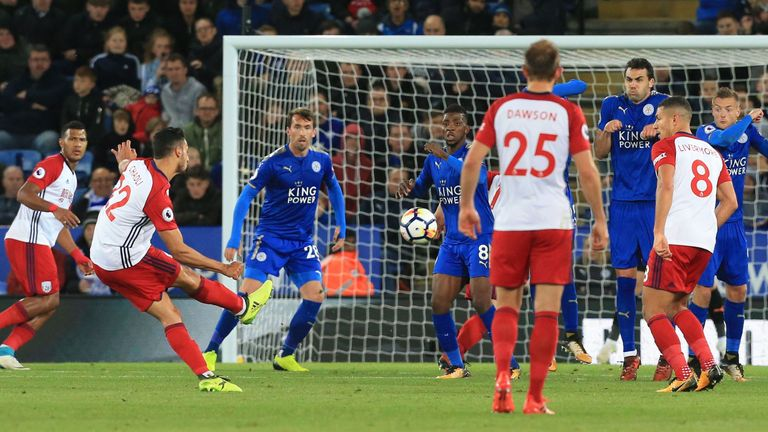 Leicester drew 1-1 with West Brom on Monday Night Football