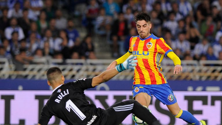 Nacho Vidal scored in Valencia's 3-2 win at Real Sociedad