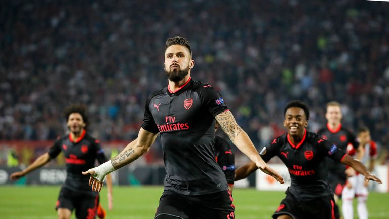 Giroud has played second fiddle to Alexandre Lacazette in the Premier League this season