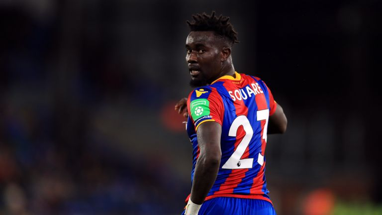 Crystal Palace's Pape Souare has struggled for first-team games this term