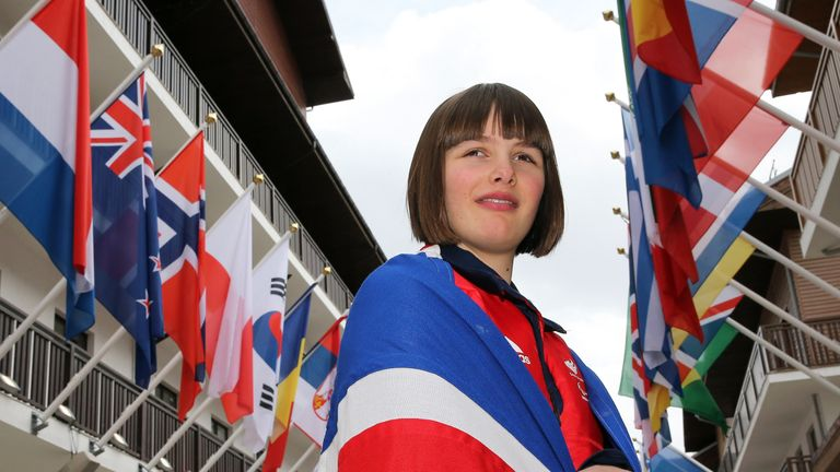 Millie Knight was the flagbearer at the Winter Paralympics