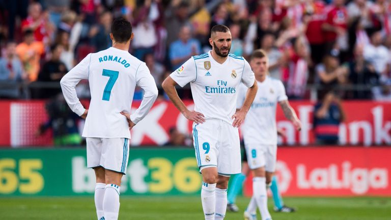 Real Madrid duo Cristiano Ronaldo and Karim Benzema suffered a shock loss at Girona