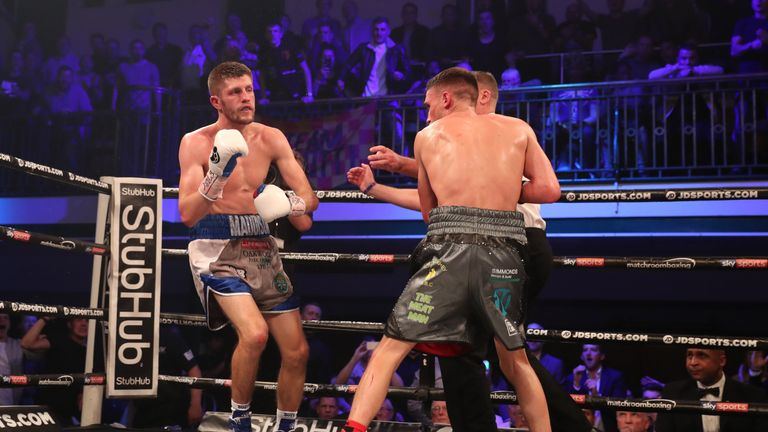 Bellotti unloads a barrage of punches in an action-packed fight