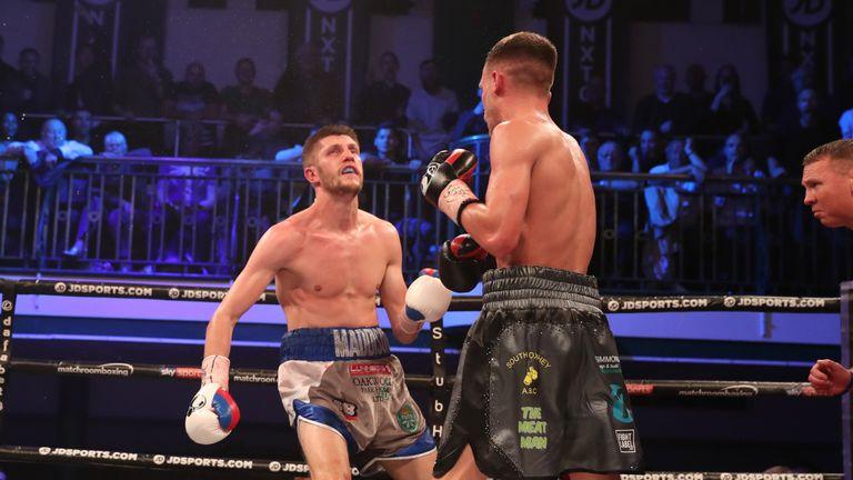 Bellotti catches Cunningham with an uppercut