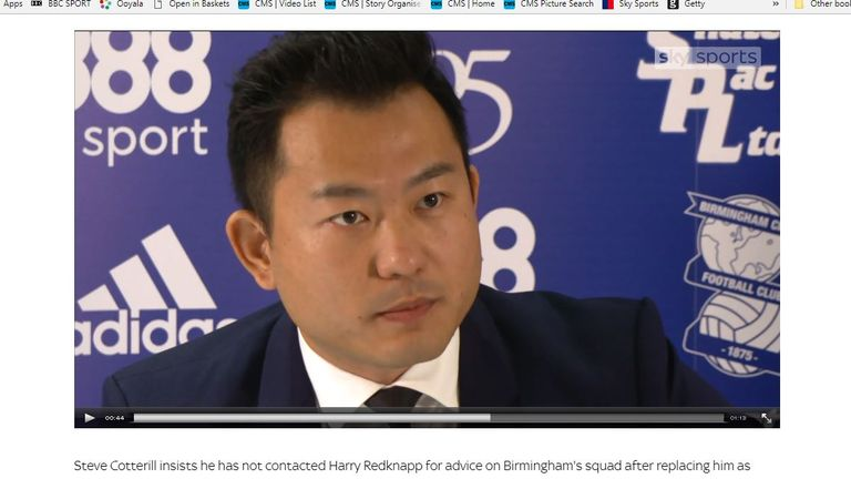 Birmingham director Xuandong Ren is effectively in charge of the club