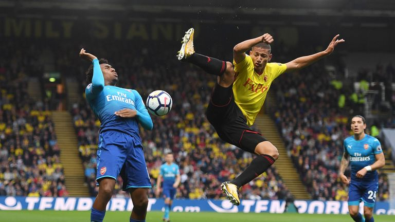Richarlison (R) has made a flying start to life in the Premier League