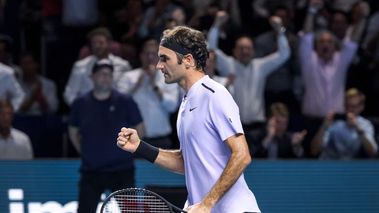 Roger Federer dropped a set for the first time this week in Basel but recovered to reach the last four
