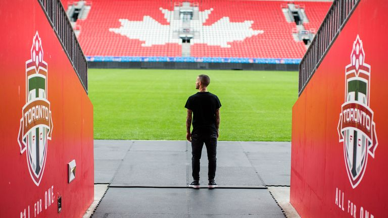 Giovinco looks out over BMO Field, the home of Toronto FC (Photo by Rob Tringali)