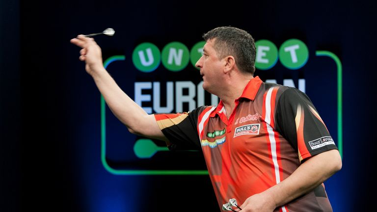 Mensur Suljovic battled past Kim Huybrechts (Picture: Kelly Deckers)