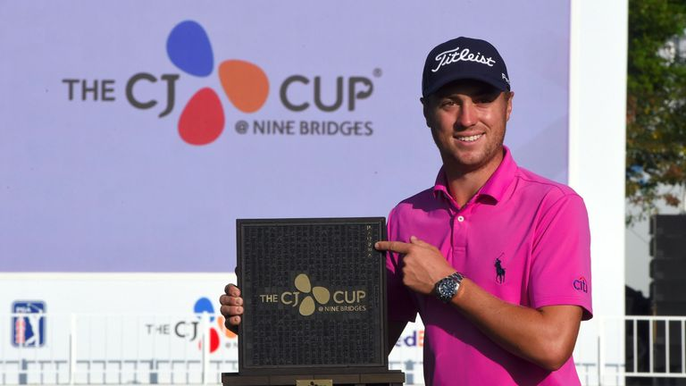Thomas won the inaugural CJ Cup at Jeju Island