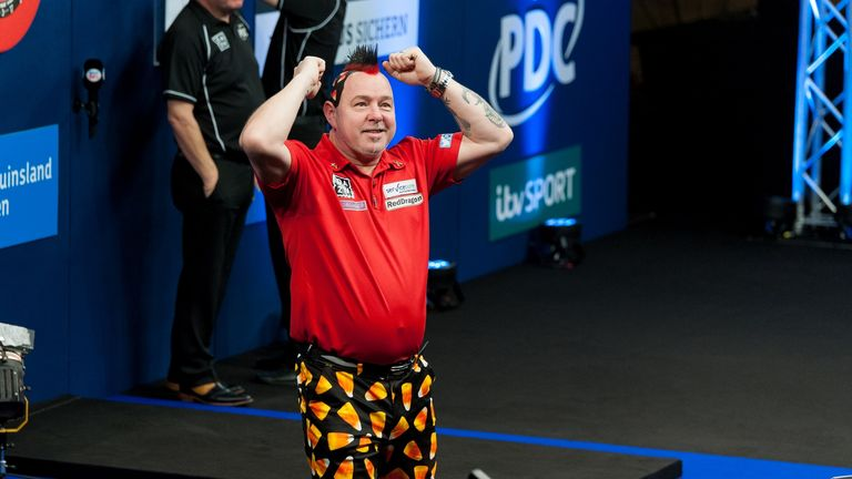 Wright celebrates his victory in Dusseldorf