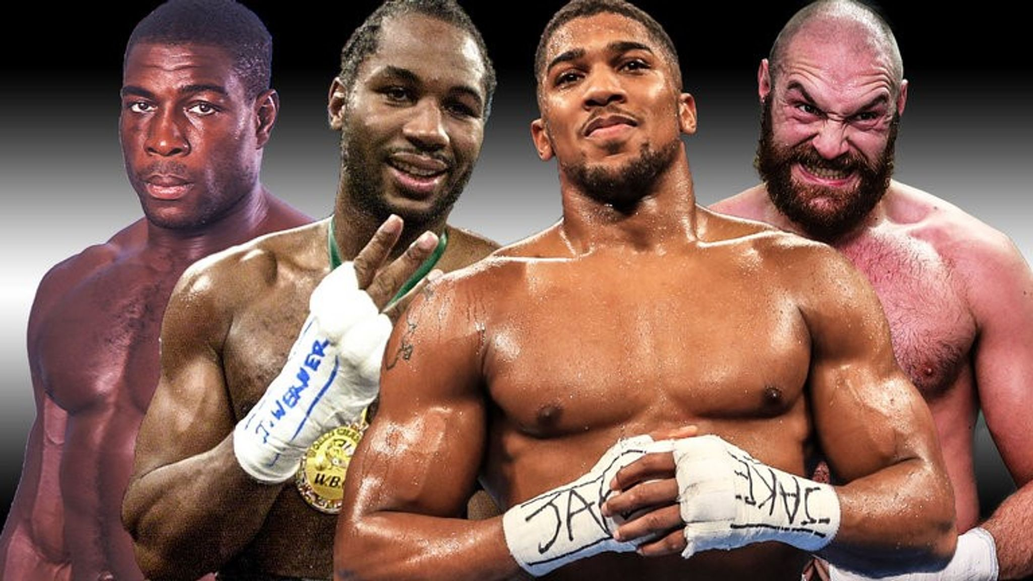 Anthony Joshua, Tyson Fury and Lennox Lewis looked different