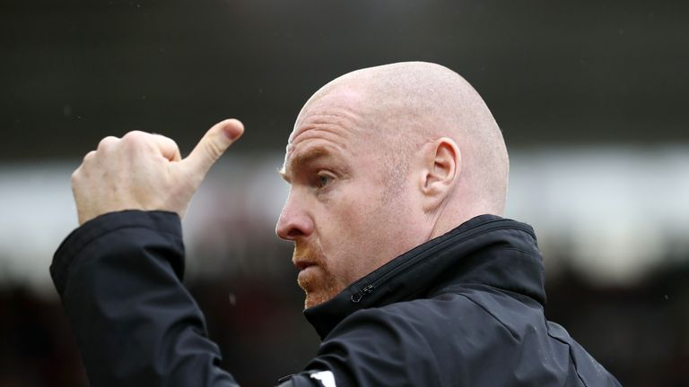 Burnley and Everton have had no contact over Sean Dyche
