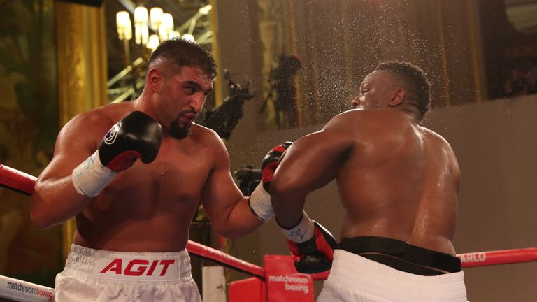 Kabayel made a confident start to the fight in Monte Carlo