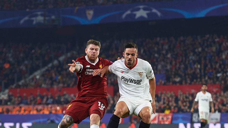 Alberto Moreno struggled on his return to former club Sevilla