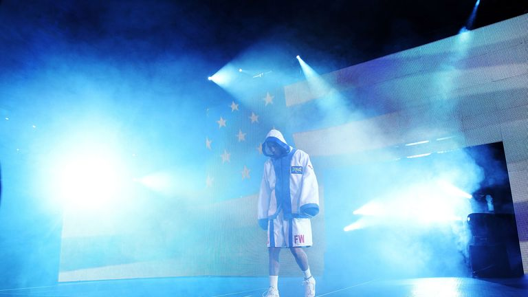 Andre Ward walked out to the stars and stripes when he faced Carl Froch