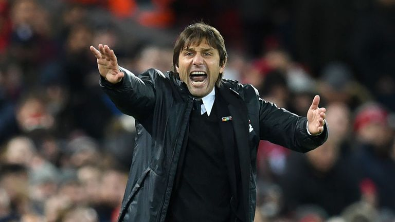 Antonio Conte's Chelsea are 11 points behind Manchester City in the title race
