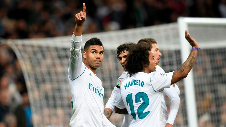 Casemiro put Real Madrid in front at the Bernabeu