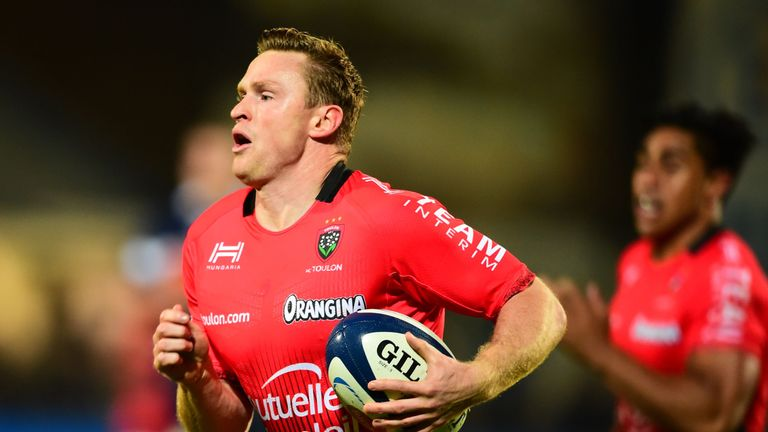 Toulon winger Chris Ashton scored a hat-trick of tries as his magnificent strike rate cotinues