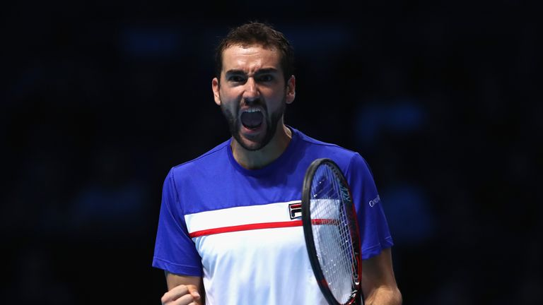 Marin Cilic claimed the opening set