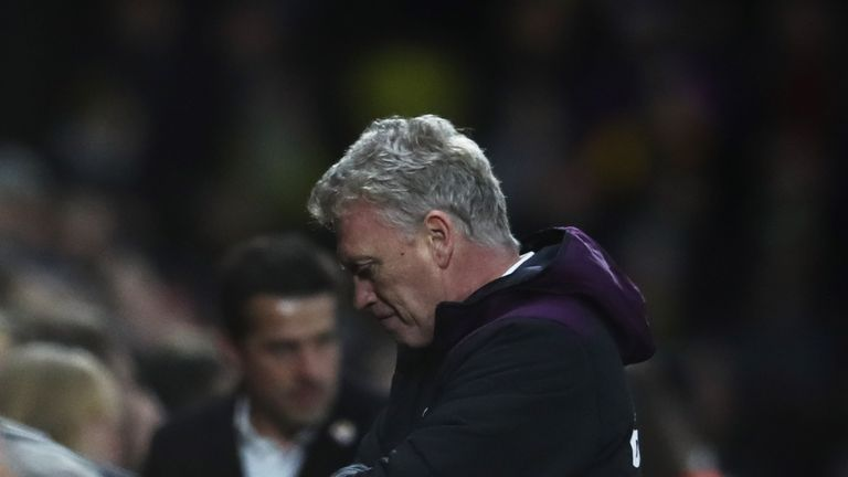 David Moyes has taken over struggling West Ham, who have not won in the Premier League since September