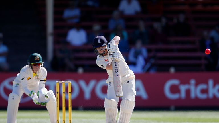Beaumont bats for England during the Women's Test match against Australia