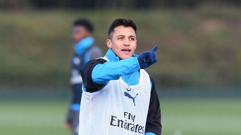 Sanchez trained with his new United team-mates this week