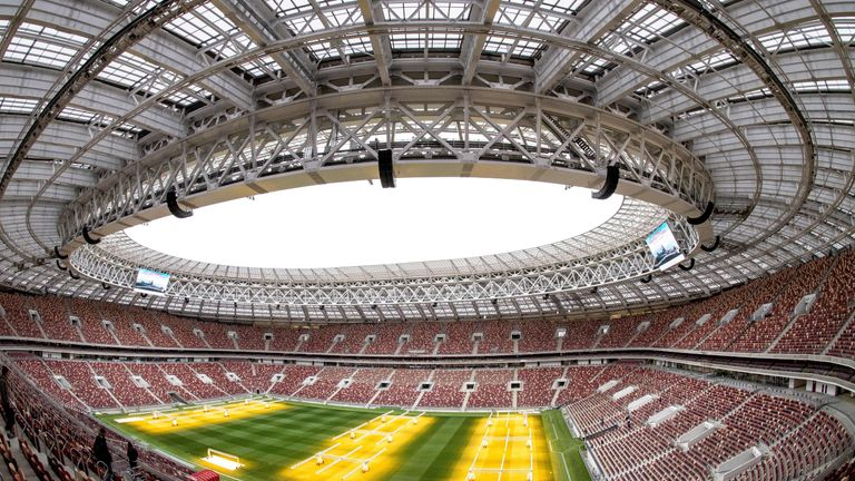 The opening match and the final of the World Cup will take place at the Luzhniki Stadium in Moscow