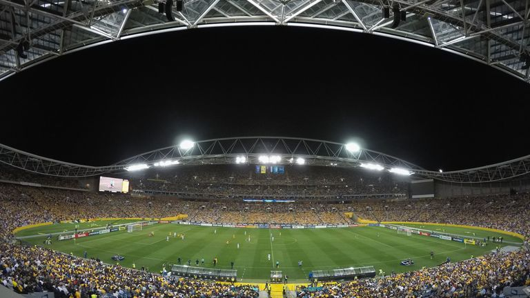 Sydney Olympic Stadium hosted this month's World Cup play-off between Australia and Honduras