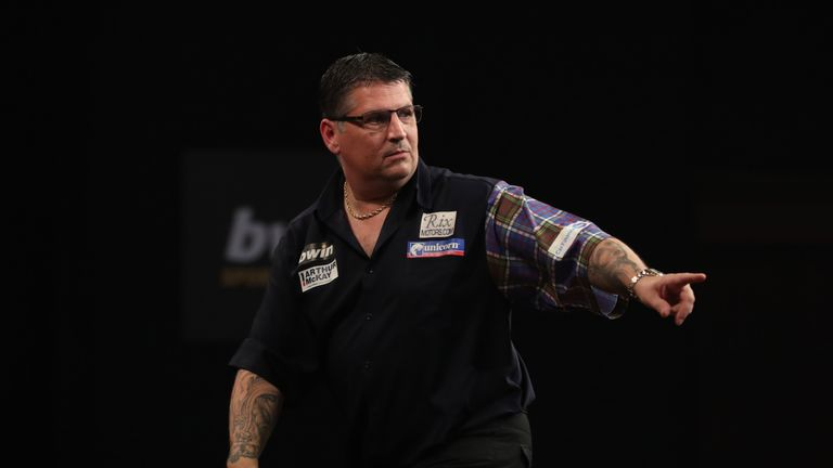 Gary Anderson is into the last four of the event for a fifth time