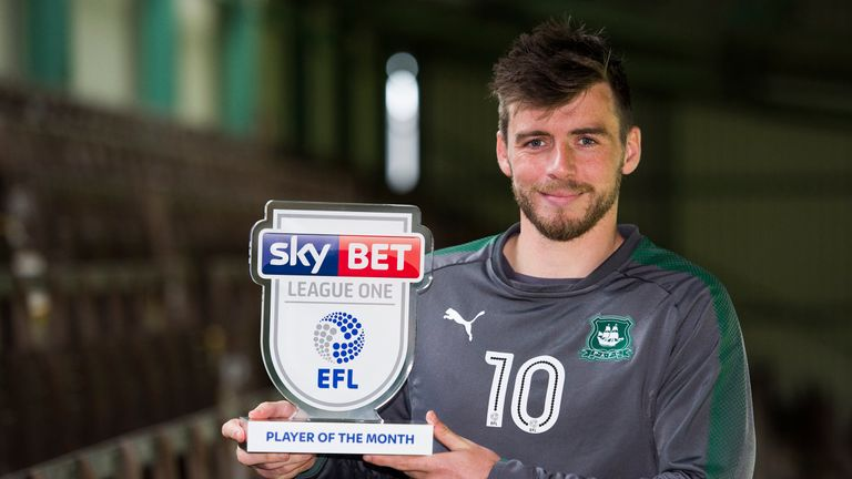 Graham Carey won the Sky Bet League One Player of the Month Award for October
