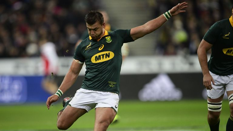 South Africa's fly-half Handre Pollard missed 11 points with the boot