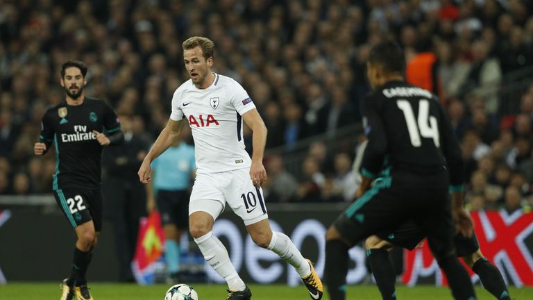 Harry Kane started the game after a late fitness test