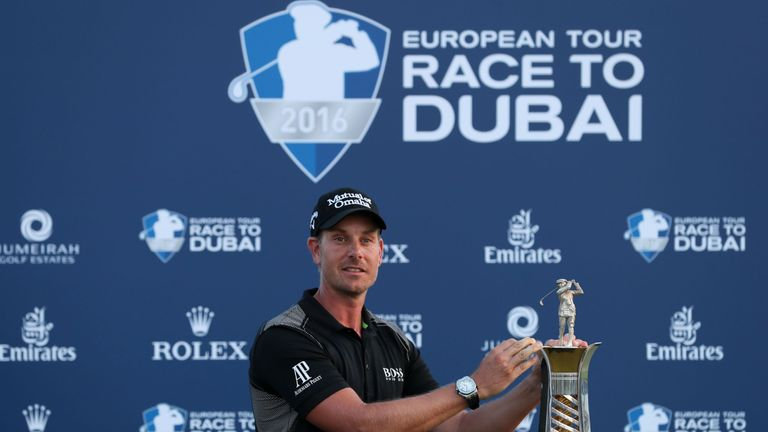 Henrik Stenson won last year's Race to Dubai