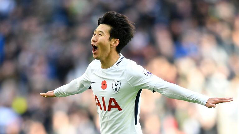 Heung-Min Son scored the only goal for Spurs in their 1-0 win against Crystal Palace