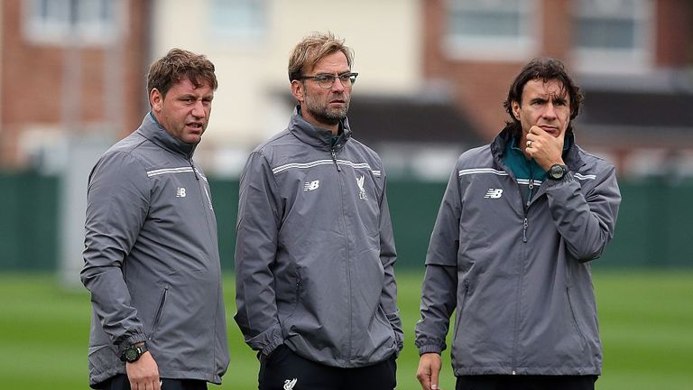 Peter Krawietz (L)  and Zeljko Buvac (R) could have to step in again for an ill Klopp