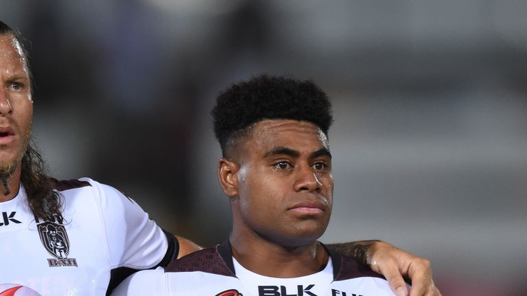 Captain Kevin Naiqama is among several players to have shed a few tears and expressed raw emotion throughout the Fijian national anthem during the World Cup