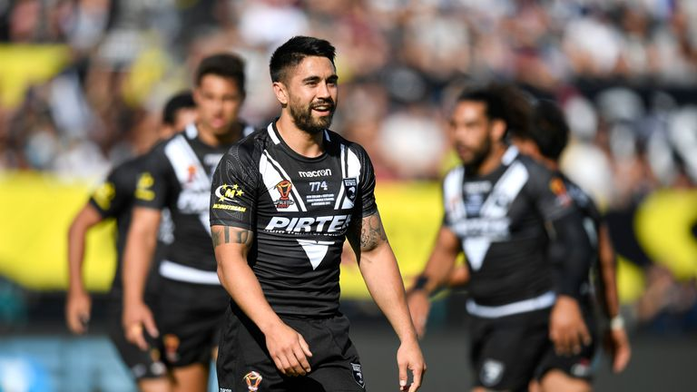 Shaun Johnson became New Zealand's record points scorer, scoring a try and kicking nine goals