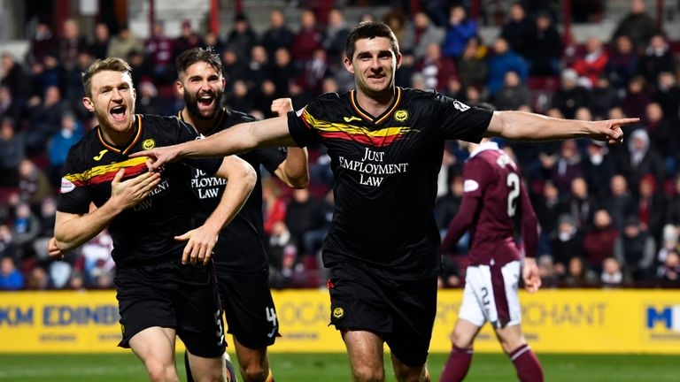 Kris Doolan scored an 85th-minute equaliser in Partick's 1-1 draw at Hearts