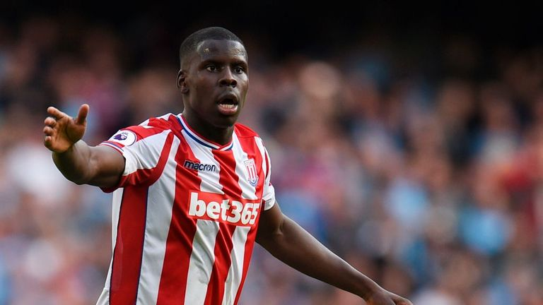 Kurt Zouma could return for Stoke after being ineligible against Chelsea