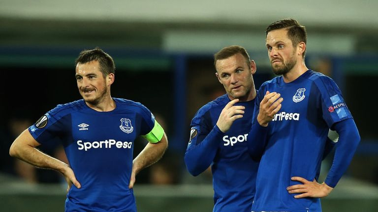 Everton will look to Leighton Baines (L) and Rooney (C) as well as Gylfi Sigurdsson to help them climb the table
