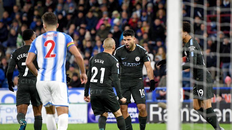 Sergio Aguero started the comeback for City
