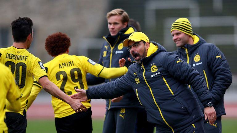 Mustafa Amini (second left) spent three seasons with Wagner at Dortmund