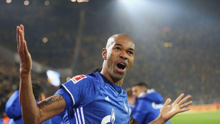 Naldo celebrates his injury-time equaliser against Dortmund